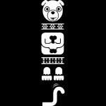 SLV Sticker Totem Dog, weiss, inkl. Rakel