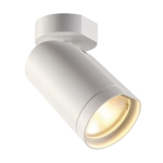 SLV BILAS SPOT, single, round,matt white, 15W COB LED, 25°,2700K, with wall plate
