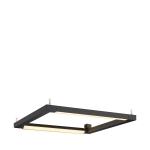 SLV OPEN GRILL LED, Double Twist Wand- und Deckenleuchte, eckig , schwarz