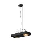 SLV AIXLIGHT R2 DUO LED GU10,QPAR111, pendant, semicircular, black
