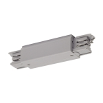 SLV Long connector with feed-inpossibility for S-TRACK3-phase track, silver-grey