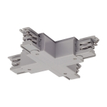 SLV X-connector for S-TRACK3-phase track, silver-grey