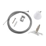 SLV Drahtseilabhängung-Set mit Kabel für S-TRACK 3 Phasen Stromschiene, weiß, 5m