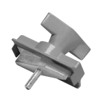 SLV Luminaire adapter, mechanicalfor S-TRACK 3-phase track,silver-grey