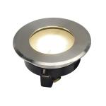 SLV DASAR FLAT 230V LED ingroundfitting, round, 4.3W LED,3000K, stainless steel bezel