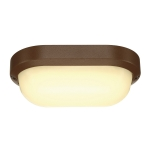 SLV TERANG 2 wall and ceilinglight, oval, rust, 11W LED,3000K, IP44