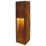 SLV RUSTY 50 LED SLOT floor stand,rusted iron, 8.6W COB LED,3000K, IP55