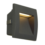 SLV DOWNUNDER OUT LED S recessedwall light, anthracite, SMDLED 3000K, IP55
