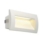 SLV DOWNUNDER OUT LED M recessedwall light, white, SMD LED3000K, IP55