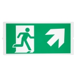 SLV P-LIGHT Emergency, stairsigns for areal light, Green