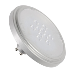 SLV QPAR111 Retrofit LED lamp,GU10, 4000K, 40°, silver-grey