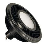 SLV LED ES111 lamp, black, 17.5W,140°, 2700K, dimmable
