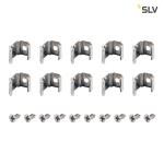 SLV MONTAGECLIPS, für DELF D Lichtbalken, 45°, 10 Stück