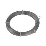 SLV Stahlseil 0,75mm mit PVC-Ummantelung, 100m Ring, verzinkt