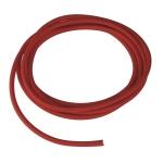 SLV PVC line with fabric sheath, 3-pole, 10m, red