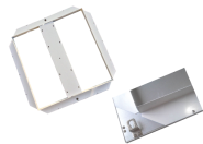 M-Light LED- Unterbaurahmen für LED Panel 40W 622x622mm für LED Panel 40W, Maße: 622x622x37mm