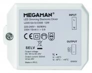 MEGAMAN LED Dim. Treib. 12W-500mA f. RICO HR 9W LED Treiber dimmbar