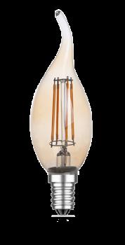 mlight LED-Windstoss Fadenlampe gold, 4W, 230V, E14, 2700K, 300°, 350lm, 20000h, A+, dimmbar