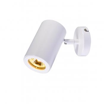 SLV ENOLA_B Wand- und Deckenleuchte, Spot, einflammig, QPAR51, weiß, max. 50W