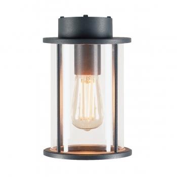 SLV Außen-Deckenleuchte PHOTONIA , A60, rund, anthrazit, klares Glas