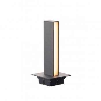 SLV H-POL, Wege- und Standleuchte, einflammig, LED, 3000K, anthrazit, L/B/H 16,5/16,5/36 cm