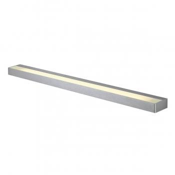 SLV SEDO 21 Wandleuchte, LED, 3000K, eckig, aluminium gebürstet, Glas satiniert, L/B/H 89,5/8,5/4 cm, Energiesparleuchte, 33 W