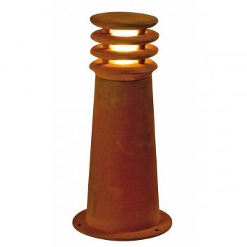 SLV RUSTY 40 Outdoor Standleuchte, LED, 3000K, rund, eisen gerostet, Ø/H 19/40 cm