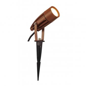 SLV SYNA Outdoor Spiessleuchte, LED, 3000K, IP55, rost, 230V, 8,6W