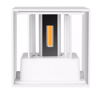 mlight LED-Außenwandleuchte CUBE weiß