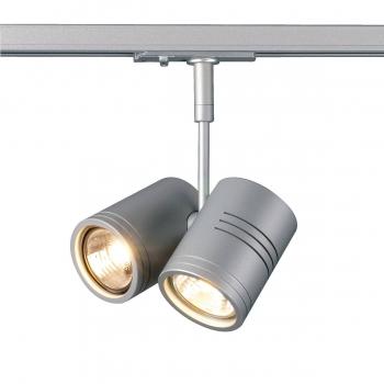 SLV BIMA II Leuchtenkopf, silbergrau, 2x GU10, max. 50W, inkl. 1 Phasen Adapter
