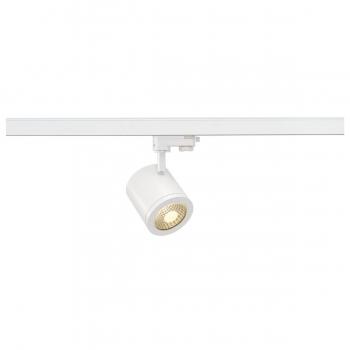 SLV ENOLA_C Spot für Hochvolt-Stromschiene 3Phasen, LED, 3000K, rund, weiß, 55°, 11,2 W, inkl. 3Phasen-Adapter