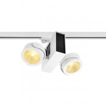 SLV TEC KALU double weiß/bl. 24° 3000K inkl. 3P.-Adapter