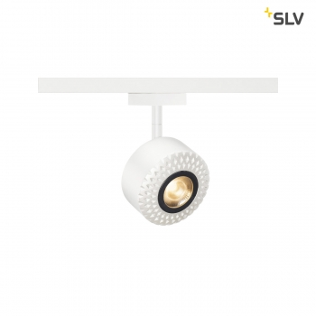 SLV TOTHEE LED Strahler für 2 Phasen Stromschiene, 3000K, weiß,50°, inkl. 2 Phasen Adapter