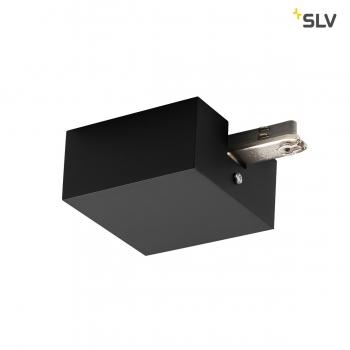 SLV EINSPEISER, für D-TRACK 2 Phasen Stromschiene, schwarz, mit Gehäuse