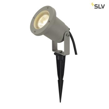 SLV NAUTILUS SPIKE, silbergrau, GU10, max. 35W, inkl. 1,5m Kabel mit Stecker