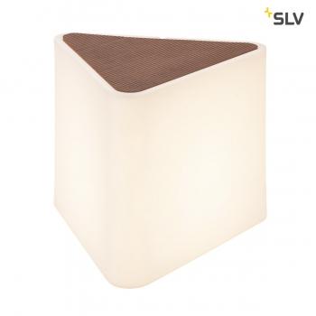 SLV KENGA Außenleuchte, weiß, dreieckig , mit Kunstholzabdeckung, E27