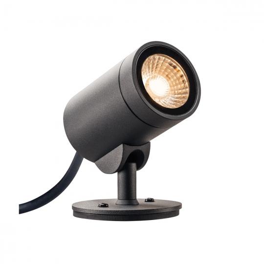 SLV Außen Strahler HELIA , LED, 3000K, 35°, anthrazit, IP55