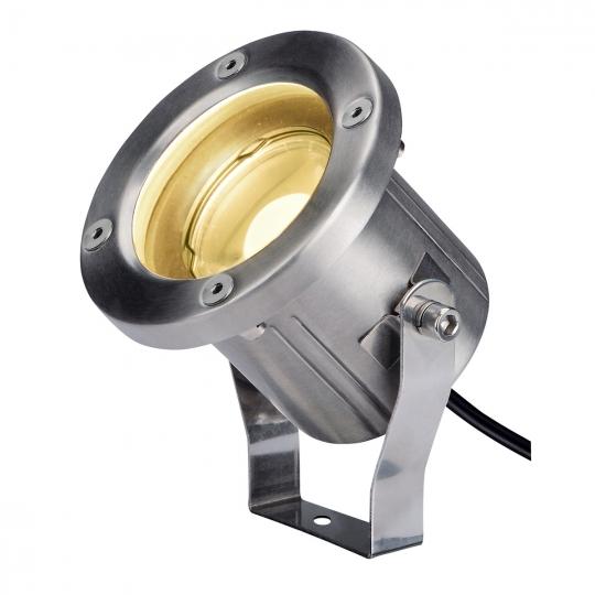 SLV Außen Erdspießleuchte NAUTILUS SPIKE LED, Edelstahl 316, IP55, 3000K
