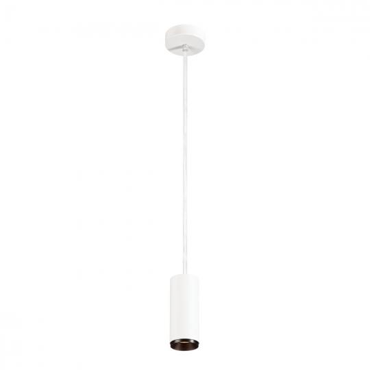 SLV LED Pendelleuchte NUMINOS® PD DALI S,  weiß/schwarz 3000K 24°