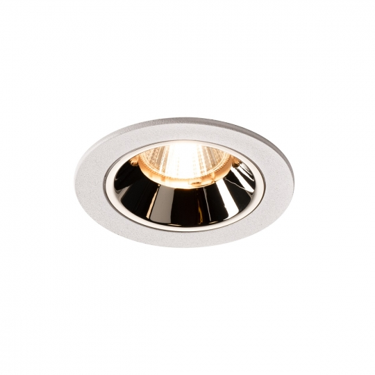 SLV LED Deckeneinbauleuchte NUMINOS® DL S, weiß/chrom 4000K 20° inkl. Blattfedern