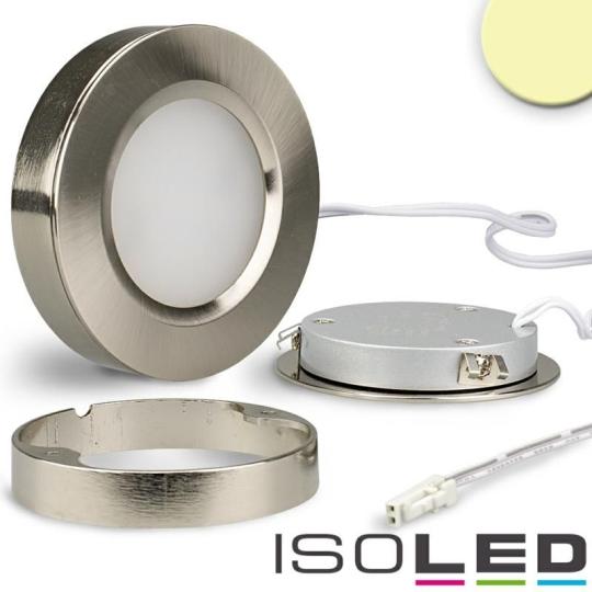 ISOLED LED Slim Ein- und Unterbauleuchte MiniAMP, silber - warmweiß