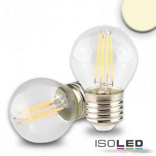 ISOLED LED Illu, 4W, klar, E27, dimmbar - warmweiß