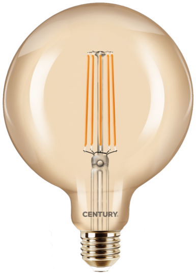 Century LED Filament Globe125 Gold - 8W - warmweiß