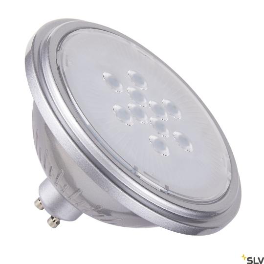 SLV LED-Lampe QPAR111 GU10 silber 7W - warmweiß
