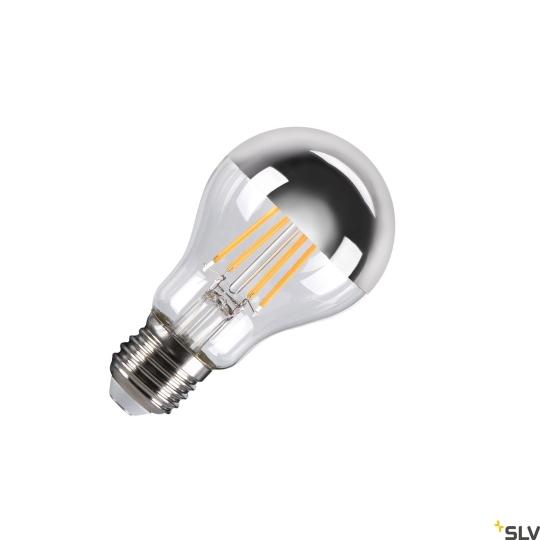 SLV LED Leuchtmittel A60 E27 Mirrorhead, chrom
