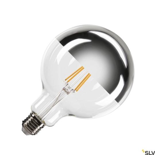 SLV LED Leuchtmittel G125 E27 Mirrorhead, chrom