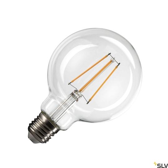 SLV LED Leuchtmittel transparent G95 E27 - warmweiß