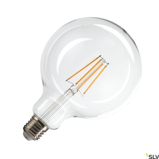SLV LED Leuchtmittel G125 E27 transparent 7.5W - warmweiß