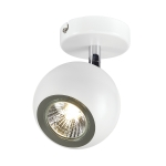 SLV LIGHT EYE 1 GU10 wall andceiling light, white/chrome,GU10, max. 50W