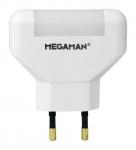 Megaman LED Nachtlicht-0.2W-Eurostecker-weiss
